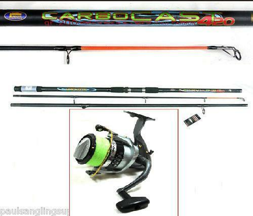NGT   Lineaeffe  14ft Beachcaster Beach Sea Fishing Rod & 7000i Reel Red Line