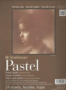 STRATHMORE 400 SERIES PASTEL PAPER 9x12 ~ 24 SHEETS