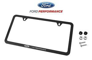 Ford RAPTOR F 150 Black Stainless Steel License Plate Frame W// Bolt Caps