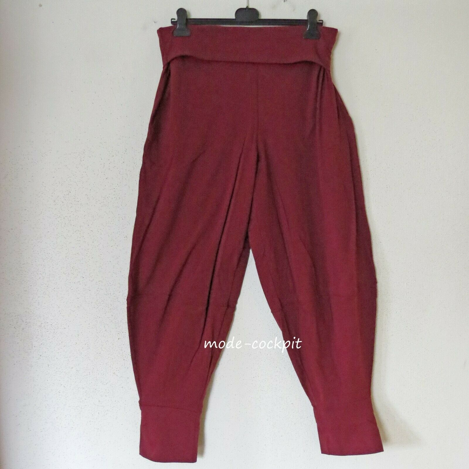 BORIS INDUSTRIES süsse Ballon Hose Lagenlook Baumwolle bordeaux 46 (4)