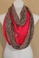 Us Seller Womens 2 Infinity Scarves Fashion Loop Scarf Pink Gray Spots Cowl