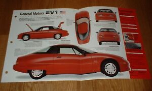★1998 GM EV1 ORIGINAL IMP BROCHURE 96 97 98 ELECTRIC CAR INFO SPECS PHOTO POSTER