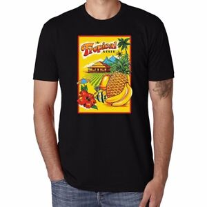 Tropical-State-Fruit-Pineapple-Funny-Men-039-s-Ringer-T-shirt-Short-Sleeve-Tops-Tee