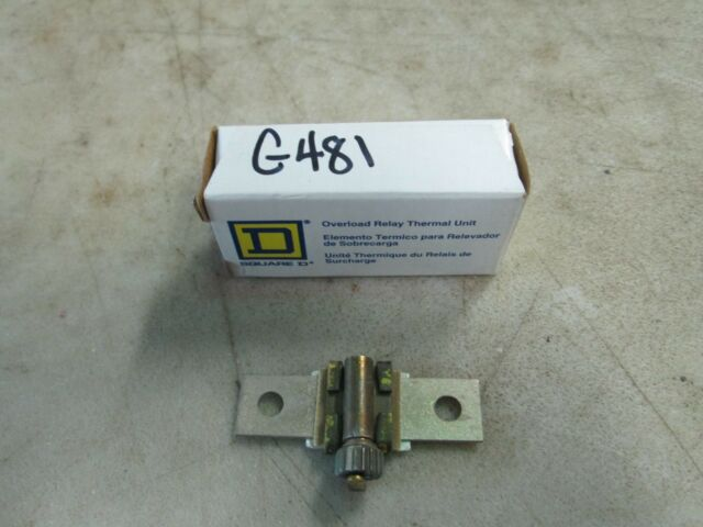 6 Square D B70 Overload Relay Thermal Element Unit Lot of