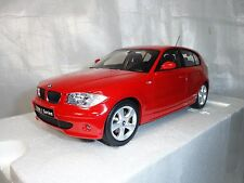 1:18 Kyosho BMW 120i Red color Model with Original box.  Discontinued