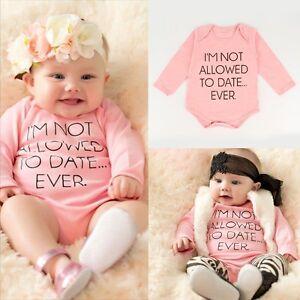 Newborn Baby Girl Long Sleeve Romper Jumpsuit+Bib Dress Clothes Outfits Set