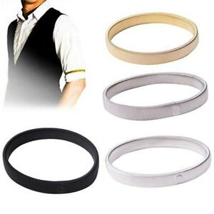 1pcs Fashion Men Shirt Sleeve Holders Arm Bands Garter Elastic Gold//Silver//Black