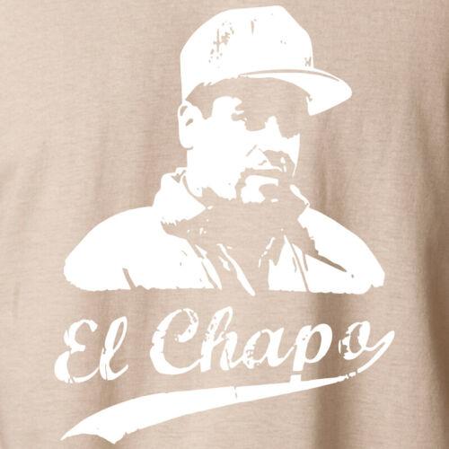 EL CHAPO T-Shirt Joaquin Guzman Sinaloa Lord Weed King S-6XL Ringspun Cotton Tee