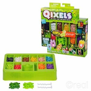 New-Qixels-Mega-Refill-Pack-1500-Cubes-Glow-In-The-Dark-Craft-Building-Official