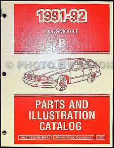 1991-1992-Oldsmobile-Custom-Cruiser-Parts-Book-Station-Wagon-Illustrated-Catalog