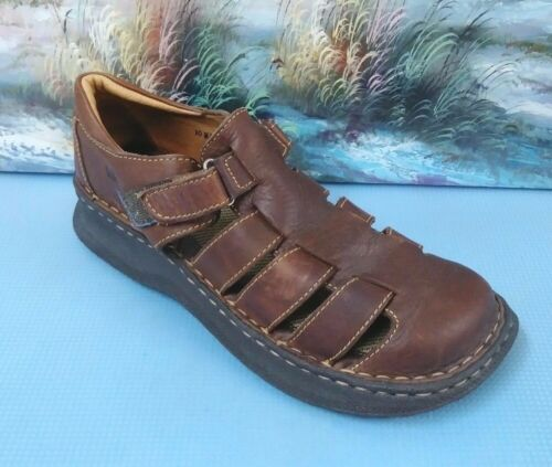 Born Brown Leather Sandals shoes mens Size 10 US 42 BO276