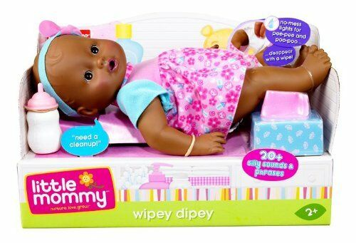 Little Mommy Wipey Dipey African American Black Doll ~ NEW ~ FREE US SHIPPING