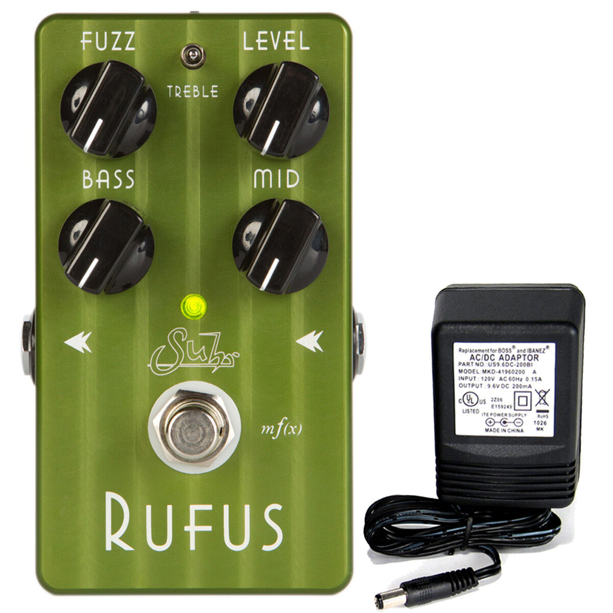 Suhr Rufus Fuzz Pedal con 9v fuente fuente fuente de alimentación  envío Gratuito   hasta 60% de descuento