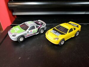 Set Of Two Artin Slot Cars. 1:43 Scale. Cyclone And Core Racing. Working.