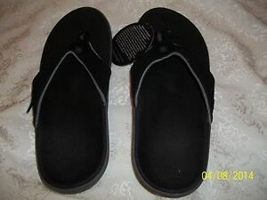 Spenco-Mens-YUMI-TOE-POST-Orthotic-Slide-Sandals-BLACK-M8-M-8-NEW-W-TAGS