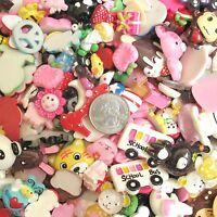Us Seller- 30 Pcs X Assorted Resin Flatback Embellishments/beads(no Hole) Ab02