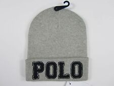 Polo Ralph Lauren Gray Heather Cotton Knit Winter Hat  NWT