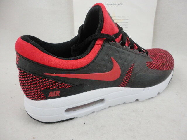 online retailer 5125b 41cbf Nike Air Max Zero 0 Essential 876070-600 Bred University Red Black DS Size  10 for sale online   eBay