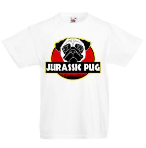 JURASSIC CARLIN KID/'S T-Shirt Pour Enfants Garçons Filles Unisexe Top Dinosaure pour Chien Chiot