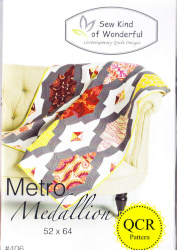 fabulous pieced quilt PATTERN uses Quick Curve Ruler Metro Medallion