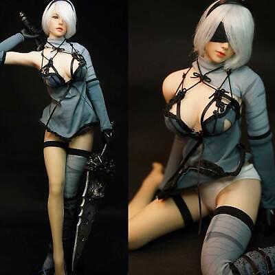 SUPER DUCK SET017 Female Automata 2B Clothes w// Head Set 1//6 Fit Phicen body