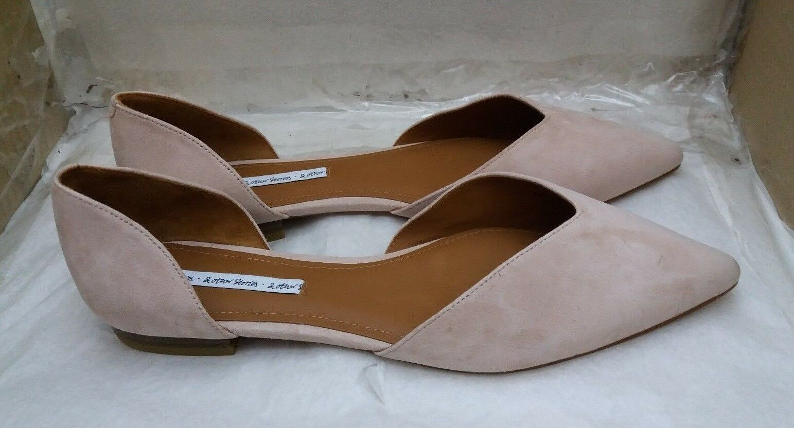 & Other Stories Pointed Ballerina Flats - Designed in Paris 41 - Beige - EU 41 Paris e9e155