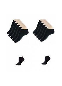 Lot de 12 socquettes coton sport homme femme mixte noir*Noir