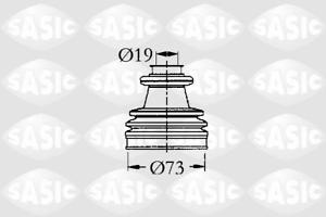 Faltenbalgsatz Antriebswelle radseitig Sasic 2933813