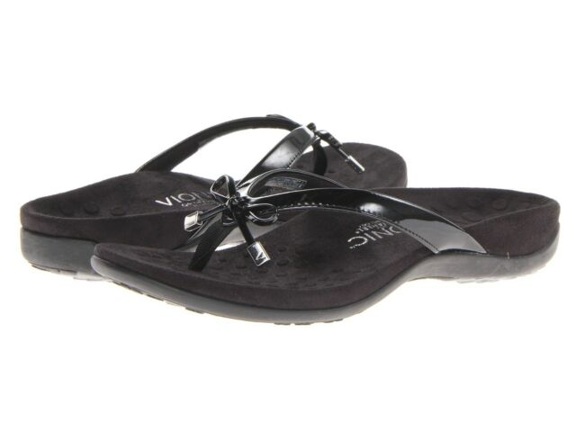 c7356cb82a38 Vionic With Orthaheel Technology Bella II Thong Sandals Black 11 M b ...