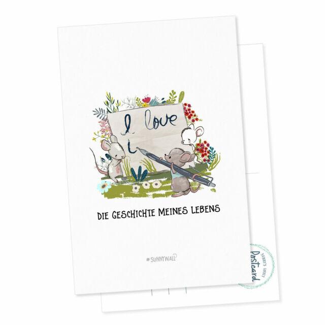 Blume des Lebens Kraftsymbol 15x10,5 cm Postkarte