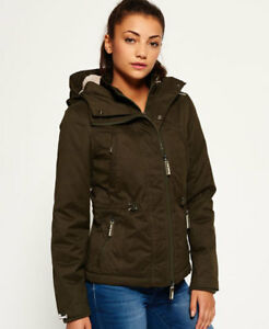 New-Womens-Superdry-Microfibre-Boxy-Snorkle-Jacket-Army