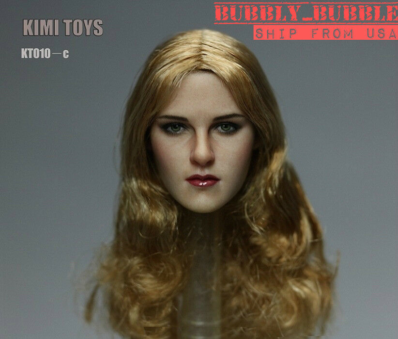KIMI KT010C 1 6 Female Head Sculpt Long Blonde Hair For PHICEN Hot Toys USA