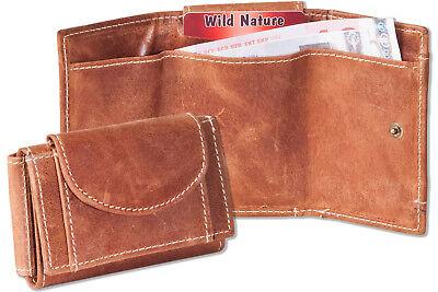 WunderschöNen Wild Nature® Mini Geldbörse & Schlüsseltasche Aus Feinem Leder In Natur Eine Lange Historische Stellung Haben