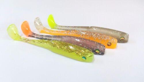 9.5 cm Soft bait mold 3.7 inch DIY realistic and sleek lure