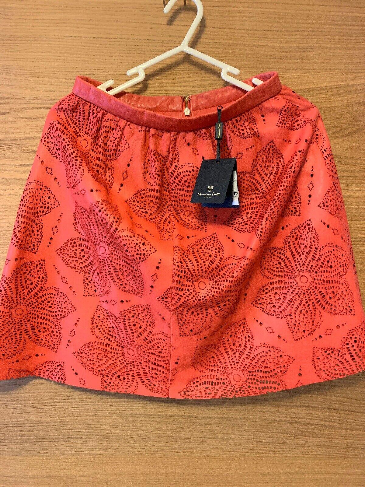 Massimo Dutti Leather Skirt UK8