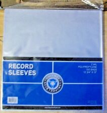 100 CSP 2 MIL CLEAR POLY PLASTIC OUTER SLEEVES /  33 RPM VINYL LP RECORD STORAGE