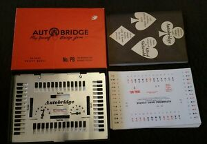 Vintage Game 1959 Auto Bridge Deluxe Pocket Model Play By