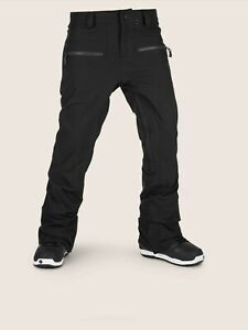 2019-NWT-WOMENS-VOLCOM-IRON-STRETCH-PANT-XL-Black-dropped-rise-tapered-fit