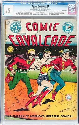 Comic Cavalcade #1 (1942,DC)  Wonder Woman / Flash / Green Lantern Free Shipping