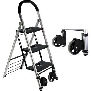 Pearstone Psl3s 3 Step Hd Photographers Ladder With Wheels Ebay
