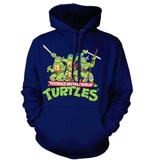 TMNT TEENAGE MUTANT NINJA TURTLES  hooded sweat-shirt cotton officially licensed