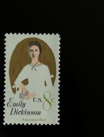 1971 8c Emily Dickinson, American Poet Scott 1436 Mint