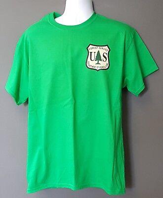 USFS Forest Service DOA Alternative Logo Kelly GREEN Short Sleeve Morale T-Shirt
