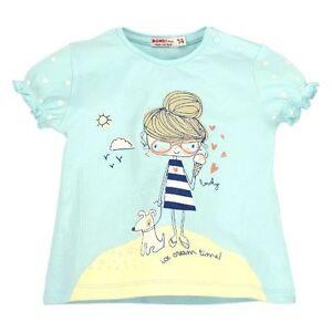 98 104 92 Kanz Shirt kurzarm T-Shirt Baumwolle Baby Mädchen Gr.62 74 68 80