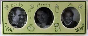 Daddy Mommy Me Photo Frame Ceramic Light Green 10 X 10 1