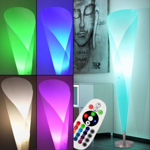 DEL Lampe Debout variateur Textile RGB Tissu Lampe Blanc Télécommande couvertures de