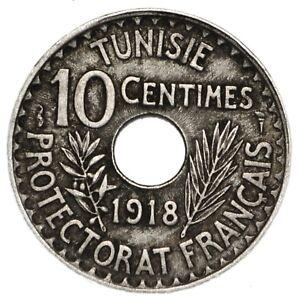 Capable Tunisia Muhammad V 10 Centimes Ah1337 - 1918 A