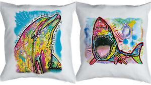 Wunderbar Das Bild Wird Geladen Delfin Hai Kissen Buntes Delphin Motiv Kissen  Kuschelkissen