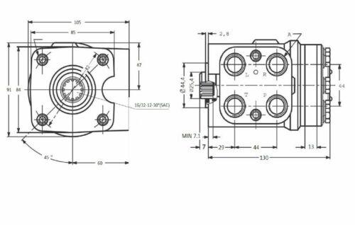 Moteur Hydraulique Orbitrol OSPC 100 LS Centre Ouvert Avec Valve 1//2BSP 150-1231
