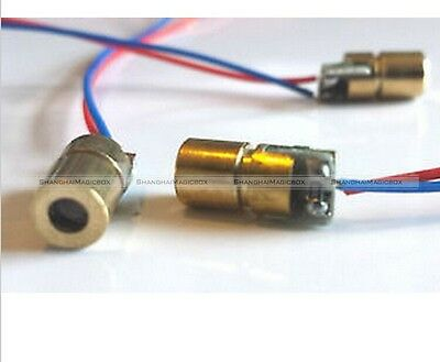 100pcs 650nm 6mm 3V 5mW mini Laser Dot Diode Module Head WL Red 90014308